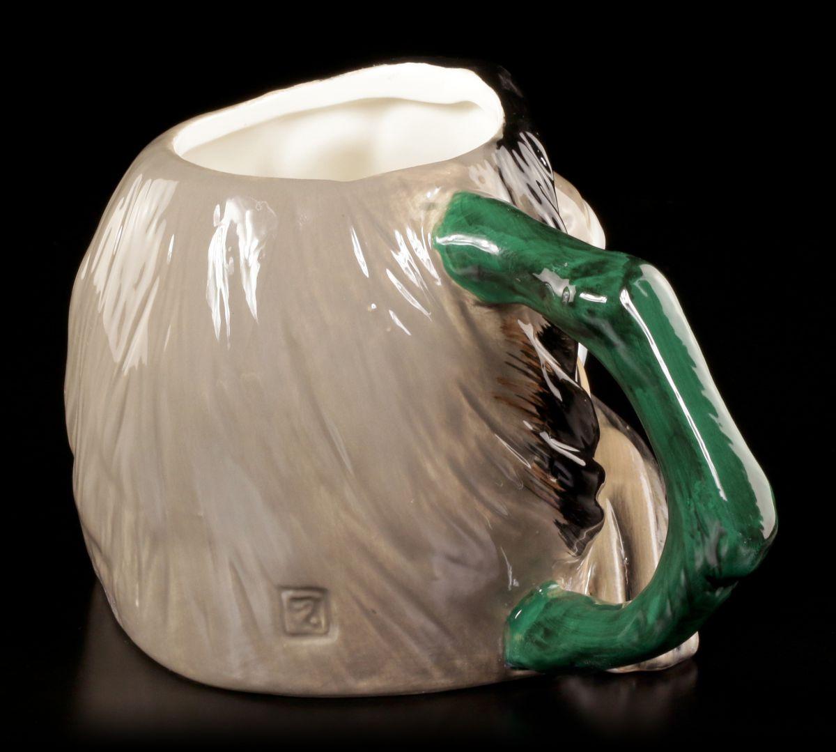 faultier keramik tasse b ro spa geschenk lustig fun kaffee becher ebay. Black Bedroom Furniture Sets. Home Design Ideas