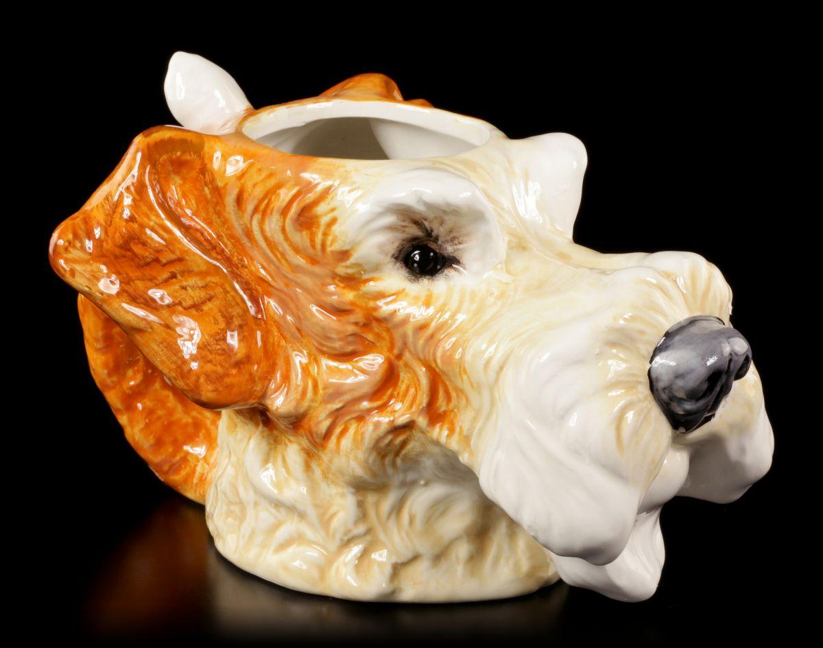 Tasse Hund Keramik - Drahthaar Foxterrier - Tierkopf Spaß Fun lustig ...