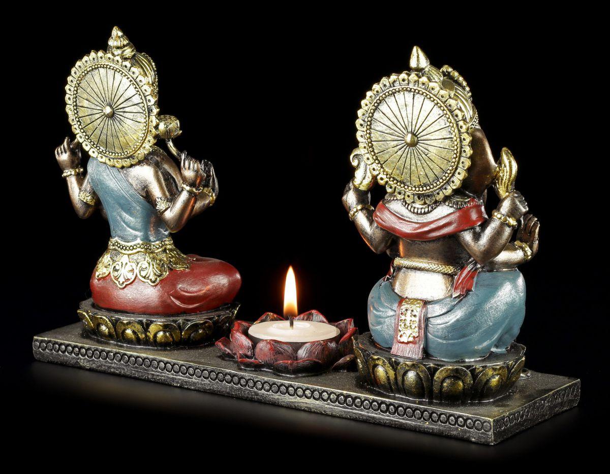 teelichthalter ganesha figur mit krishna figur buddha kerzenhalter ebay. Black Bedroom Furniture Sets. Home Design Ideas