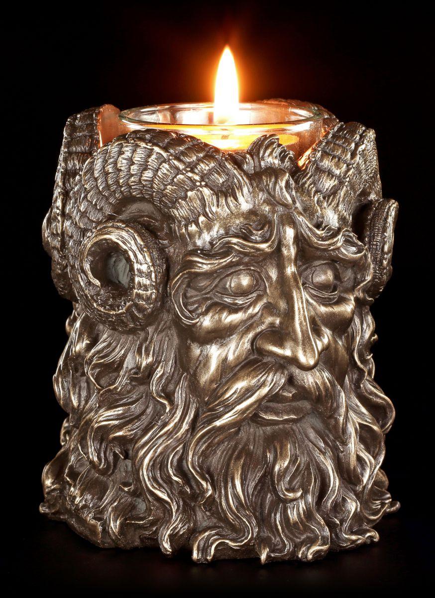 Figur Wicca Magie Fantasy Cernunnos Veronese Teelichthalter Gehörnter Gott