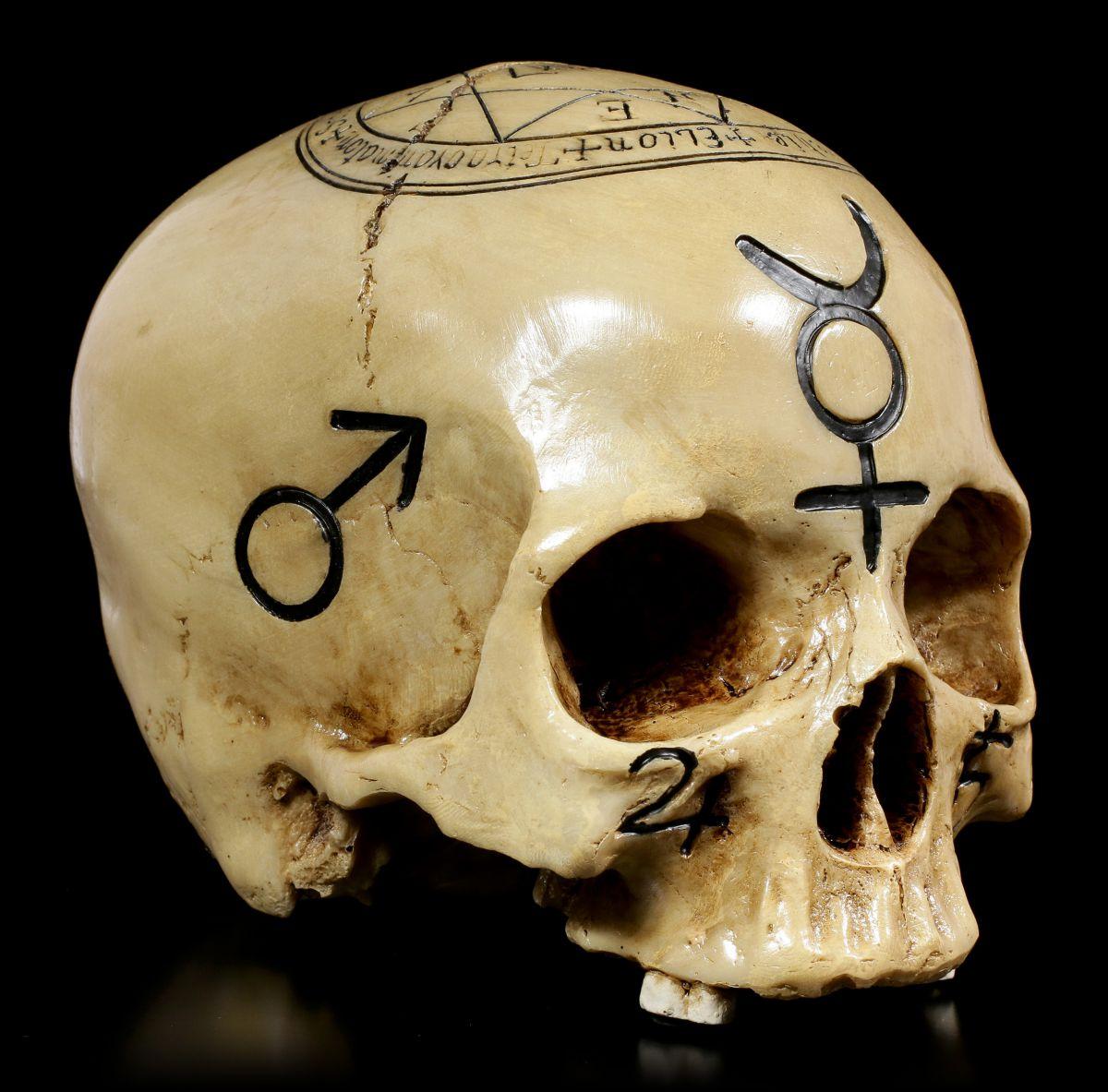 Totenkopf Witchcraft Skull - Deko Figur Schädel Ritual Totenschädel ...