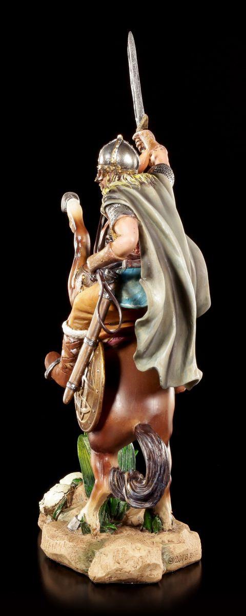 Reiter Krieger Nordmann Wikinger Figur Krieger auf Pferd
