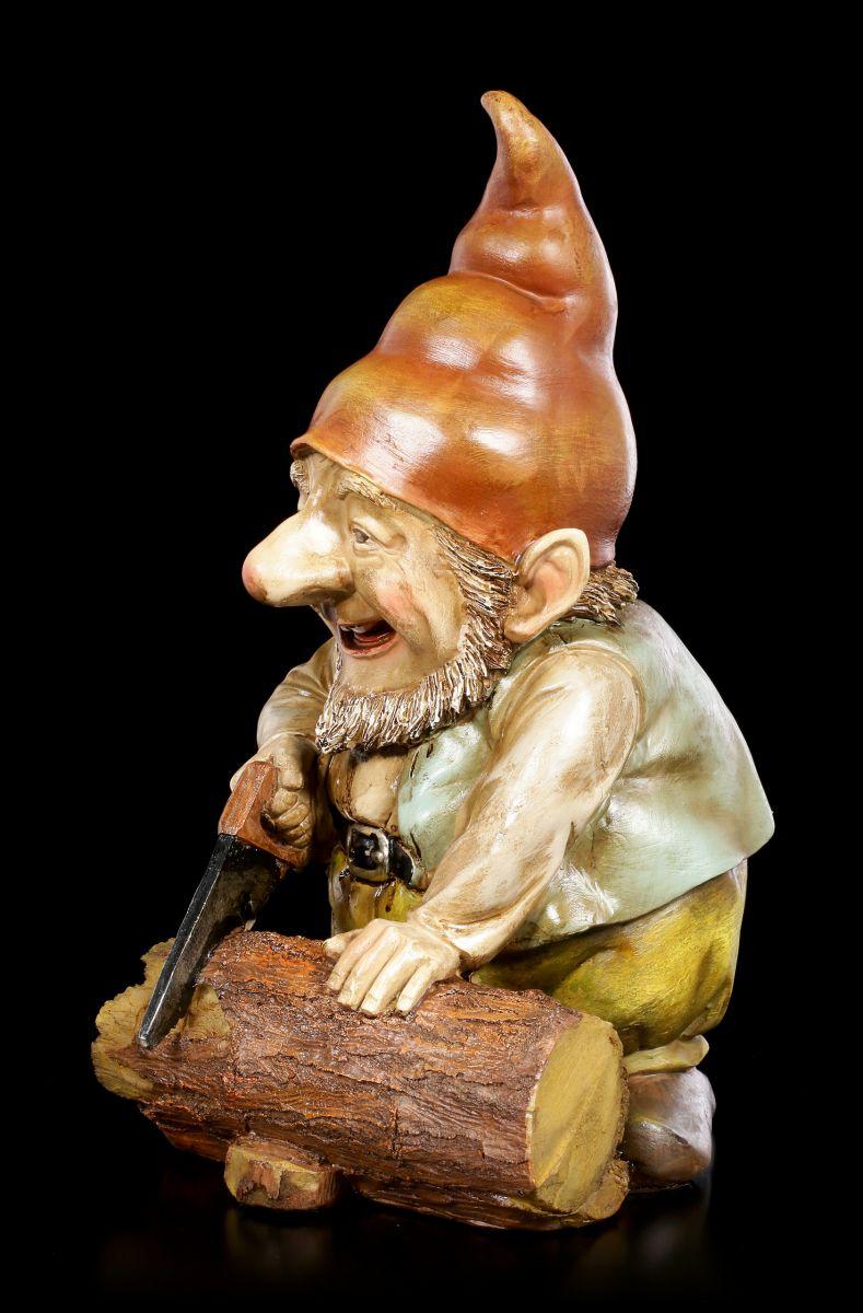 Détails sur Nain de Jardin - Gnome Heinz la Scie - Fantasy Décoration Cadeau